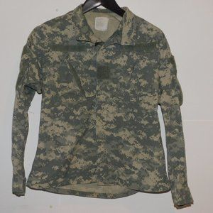 Camo Military Zip Jacket Small Combat Uniform